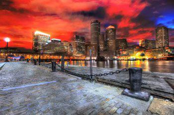 Boston Cityscape at Night 01