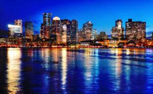 Boston Cityscape at Night 03