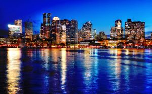 Boston Cityscape at Night 03