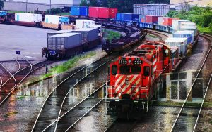 Railroad Transport Concept Photo Montage 01