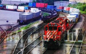 Railroad Transport Concept Photo Montage 01