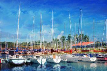Sail Boats Marina Photo Montage