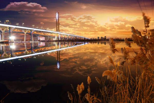 New Champlain Bridge in Montreal City