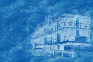 Construction Project Blueprint Sketch Image