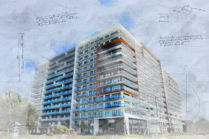 Large Condominium Building Sketch Image