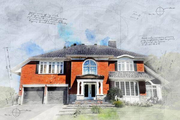 Large Luxury Habitation Sketch Image