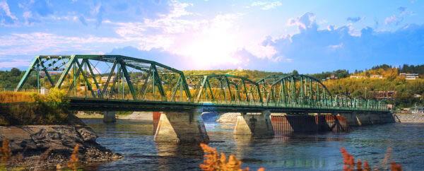 Old Saguenay Bridge and River
