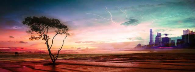Colorful Apocalyptic Landscape 06