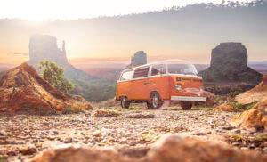 Vintage VW Camper Van Road Trip 01