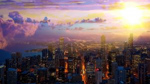 Beautiful Chicago City at Night 01