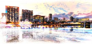 2020 Montreal Cityscape with Colorful Special Effect