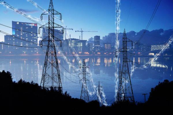 Urban Electrification Concept in Blue