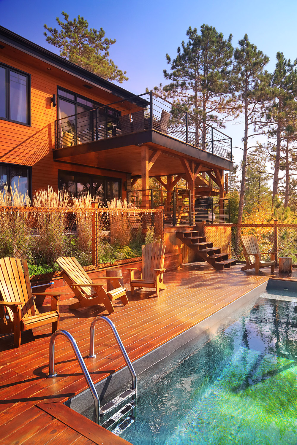 Colorful Stylish House with Pool in the Woods