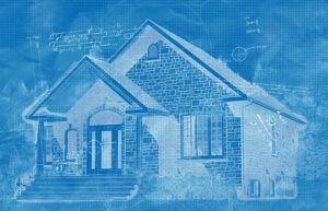 Cozy House Construction Blueprint Design